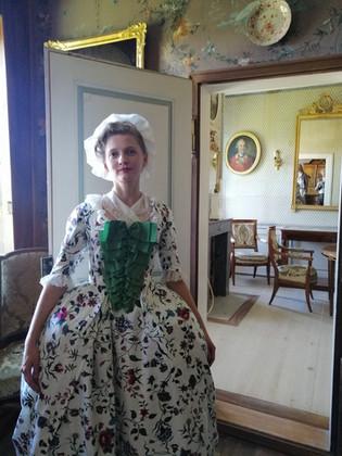Darina in a robe à la française