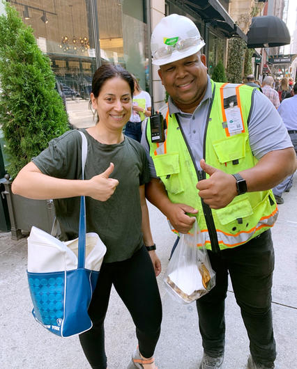 Free lunch-construction worker-NYC
