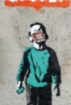 bansky graffito inkover ss20 streetwear
