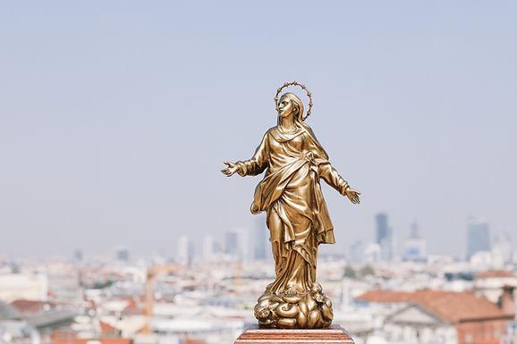 La Madonnina del Duomo in bronzo