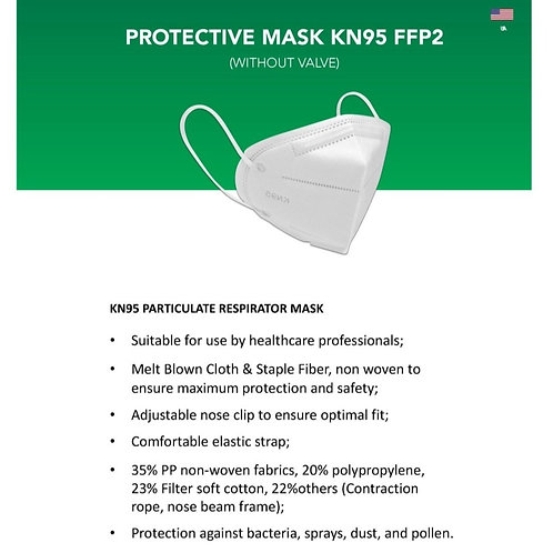 5-PACK KN95 PROTECTIVE FACE MASK