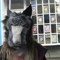 Open air wolfpack mask workshops for Ulverston Charter day: