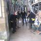 The Human Organs backpack organpipe street band.Ulverston Dickfest 2017.