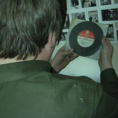 DJ Ste Tyson with vinyl supplied bbc Radio Cumbria.