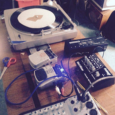 Turntabling and fx for Barrow Dock Museum performance.
