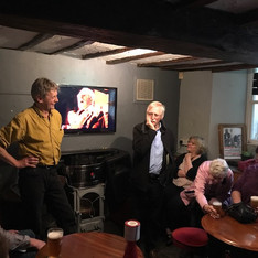 Doc Rowe in conversation at the Hope And Anchor,Ulverston