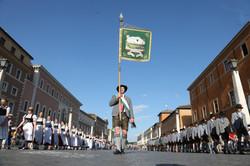 10. Festzug  Granda Parata auf den Petersplatz zu