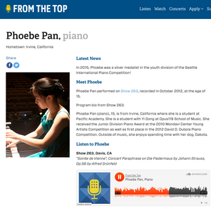 Phoebe Pan From The Top