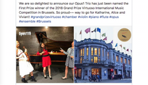 Opus1 Trio wins international competition