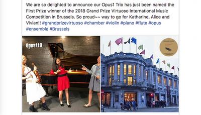 Opus1 Trio wins international competition