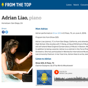 Adrian Liao From The Top