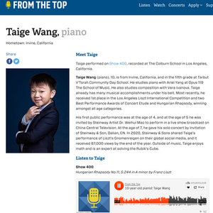 Taige Wang From The Top