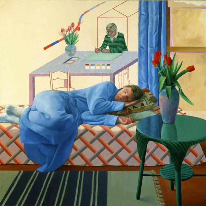 David-Hockney-Model-with-Unfinished-Self