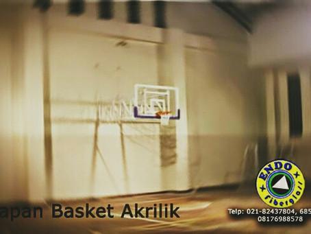 Jual papan basket transparan acrylik