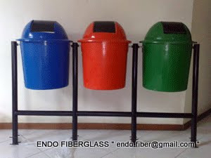 Tempat sampah fiberglass 3in1