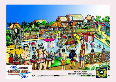 Jasa Gambar Masterplan Waterpark