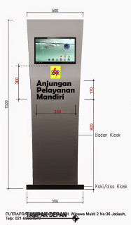 Jual Kiosk Informasi Touch Screen
