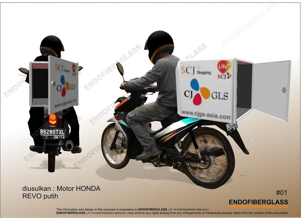 Box Delivery Motor Fiberglass Depok