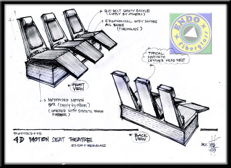Desain kursi Fiberglass 4D