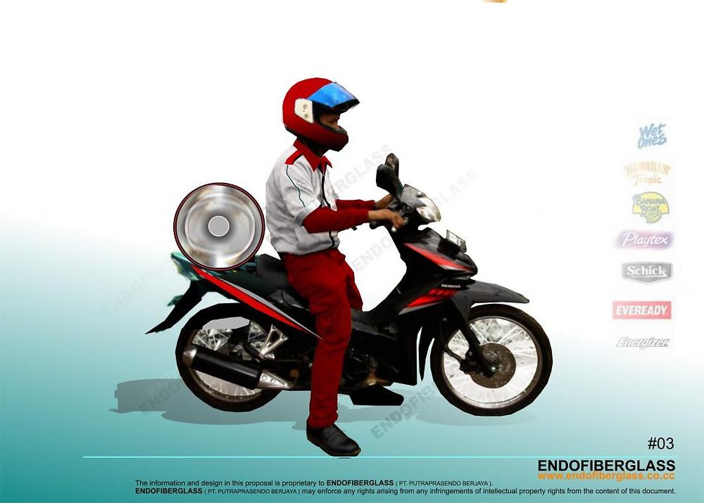 Box Delivery Motor Fiberglass Surabaya