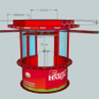 Jasa Bikin Booth Murah dengan bahan fiberglass