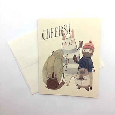 """""""Cheers!"""" Celebration Card by Red Cap Cards"""