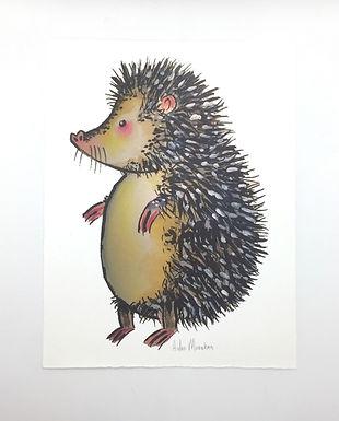 Hedgehog Signed Print by Aidan Monahan