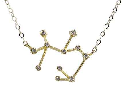 Gold Sagittarius Constellation Necklace by Thesis of Alexandria