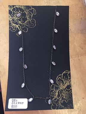 Oxidized Silver Necklace