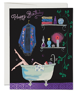 Happy Birthday Bubbles Card by Red Cap Cards