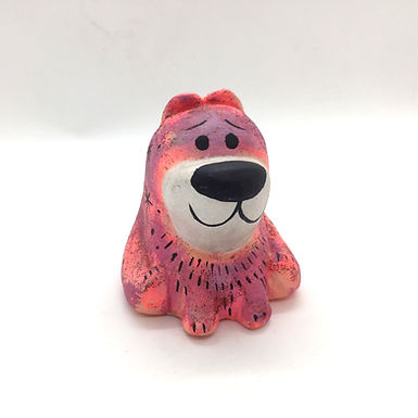 Original Painted Bear Mini Sculpture by Aidan Monahan