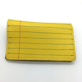 Yellow Notebook Paper Slim Wallet by Quiet Doing