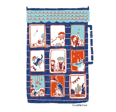 Apartment Print by Harumo Sato