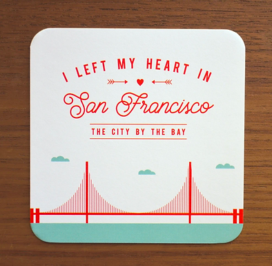 """""""I Left My Heart In San Francisco"""" Coasters by Pennie Post"""