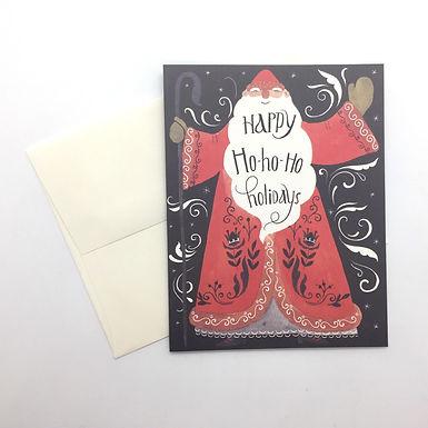 Happy Ho-ho-ho Holidays Card by Red Cap Cards