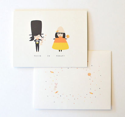 Trick or Treat Girls Card by Pennie Post