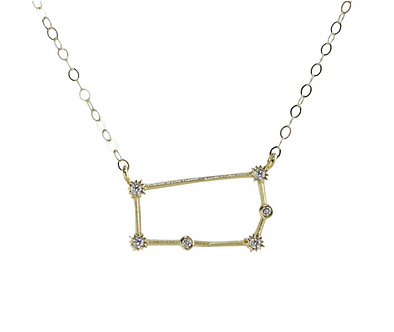 Gold Gemeni Constellation Necklace by Thesis of Alexandria