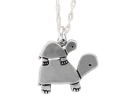 Little Turtle Family Necklace by Mark Poulin