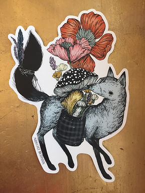 Fox Sticker by Marika Daz Illustration