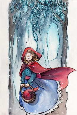 Red Riding Hood Signed Print by Heidi Black