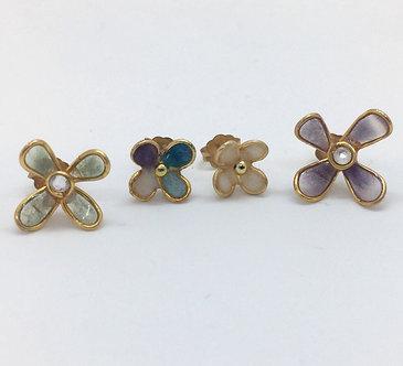 Purple Wildflower Stud Earrings Set by Petite Sunflower Shop