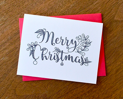 Merry Christmas DIY Holiday Coloring Cards by Pennie Post