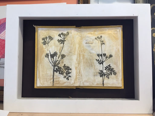 """""""Delicate"""" Mixed Media Encaustic by Shannon Amidon"""
