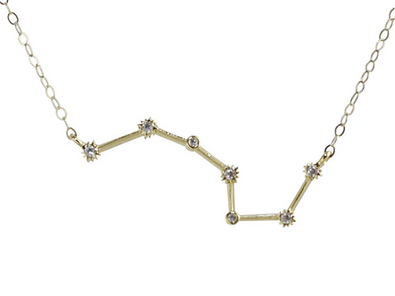 Gold Scorpio Constellation Necklace by Thesis of Alexandria