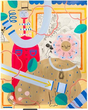 Lion and Me Print by Harumo Sato