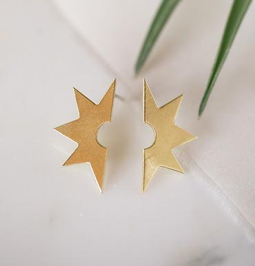 Large Starburst Earrings by Opal & Gold