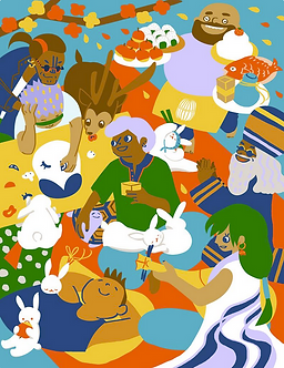 Seven Lucky Gods Print by Harumo Sato