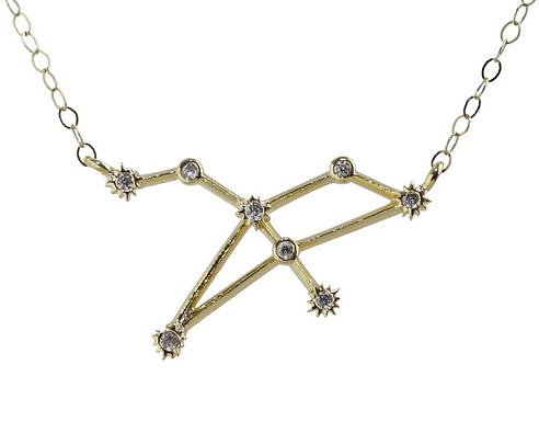 Gold Leo Constellation Necklace by Thesis of Alexandria