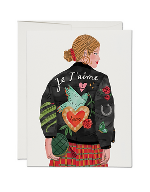 Je T'Aime Card by Red Cap Cards