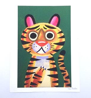 Tiger Cub Signed Print by Aidan Monahan